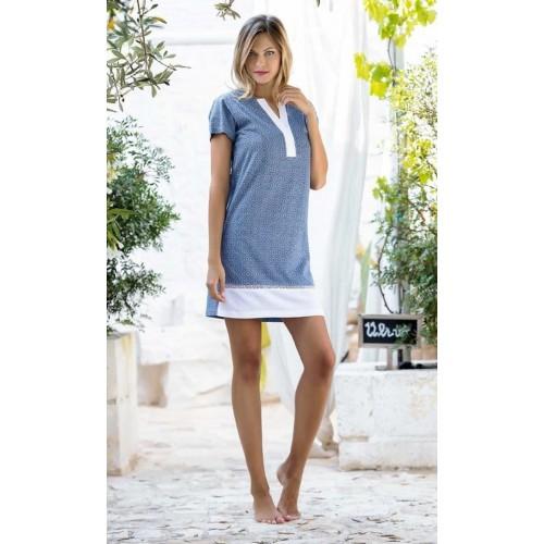 320e52e655e5 ... Pigiama Jadea home abito estivo donna fantasia orientale in cotone  ART.3082 MALVA - BLU ...